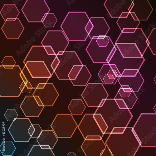 Vector Hexagon Bokeh Gradient Background