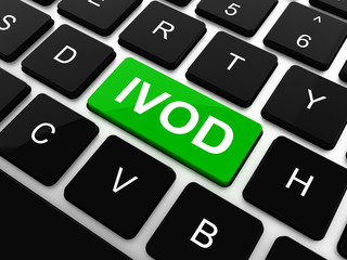 IVOD. Information Technology Concept. Button on Modern Computer