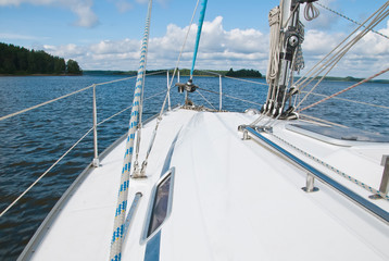 Sailing yacht in the Gulf of Finland