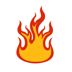 flames icon over white background vector illustration