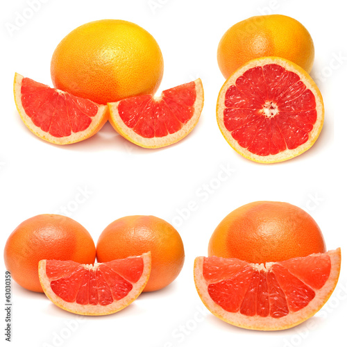 Collection of sliced ??grapefruit