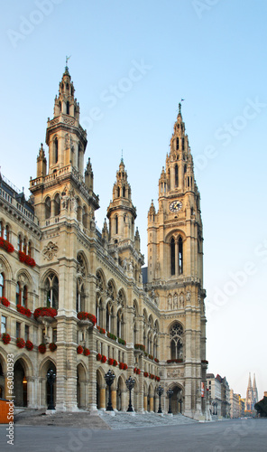 Town Hall (Rathaus) in Vienna. Austria