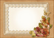 Vintage gorgeous background with lace-frame