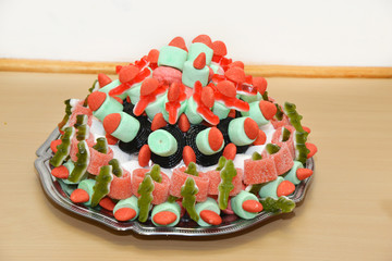 Pyramid candies