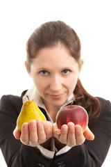 Vergleich Apfel mit Birne
