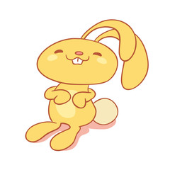 Illustration of adorable  bunny rabbit cartoon character