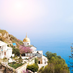 Church on the cliff above the sea