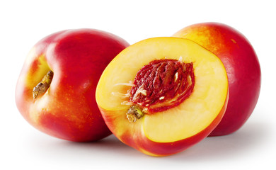 Ripe juicy nectarines