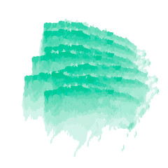 Aquamarine watercolor background, vector illustration