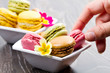 Tasty colorful macaroon