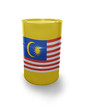 Barrel with Malaysian flag