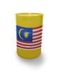 Barrel with Malaysian flag