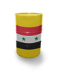 Barrel with Syrian flag