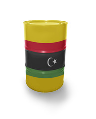 Barrel with Libyan flag