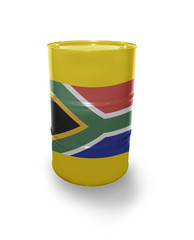 Barrel with South Africa flag