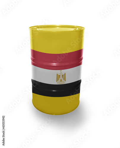 Barrel with Egyptian flag