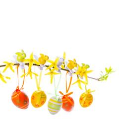 Ostern - Freisteller - Ostereier - Blüten