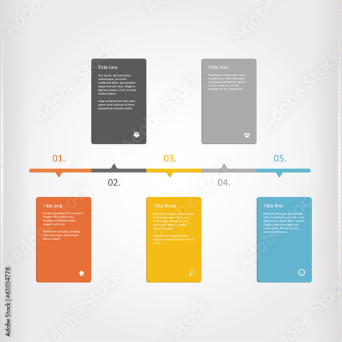 Vector creative timeline template. Matt timeline profile. Colorf