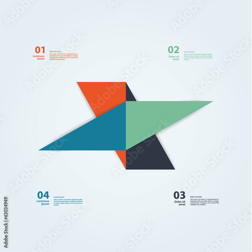 Vector abstract template. Colorfully template with place for you