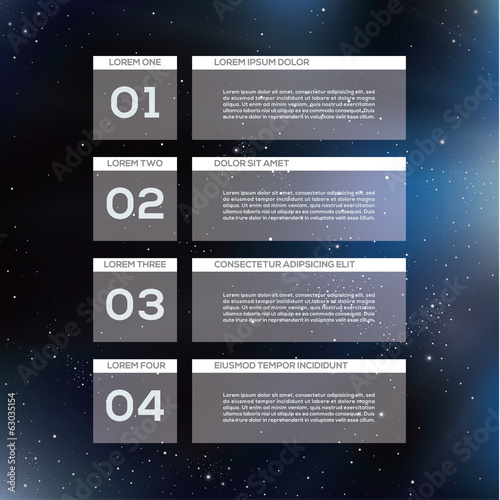 Vector modern design template. Four steps in different colors.