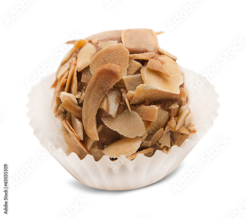 truffle candy isolated on white background
