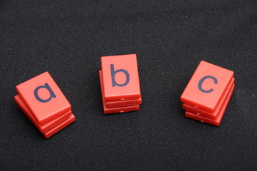 Colored plastic letters of ABC