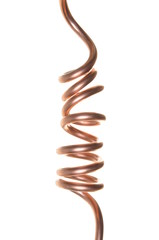 Twisted copper wire, the flow of electricity