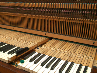 Piano under repair