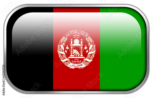 Afghanistan Flag rectangle glossy button