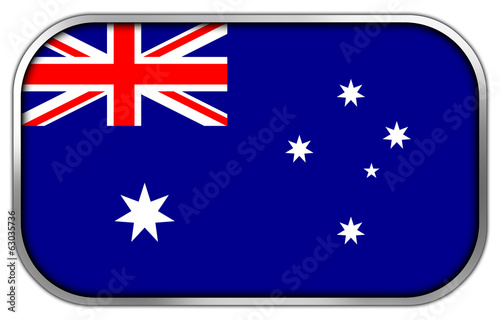 Australia Flag rectangle glossy button