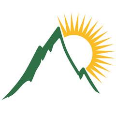 Schöner Berg Mit Sonne
