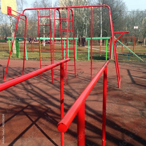 Parallel bars at street gym