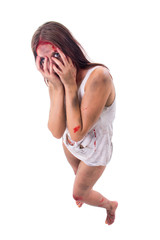 abused and hurt young woman