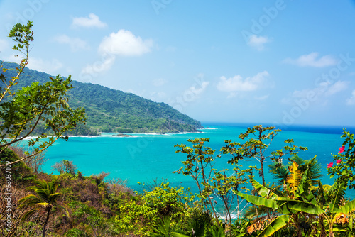 Poster Zuid-Amerika land Panama Coast View