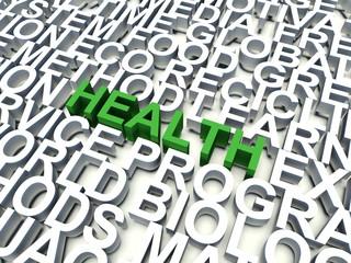 Word Heath in green. Keyword concept.