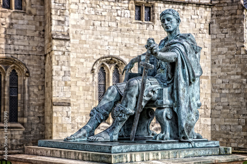 Constantine the Great sculpture close to York Mister