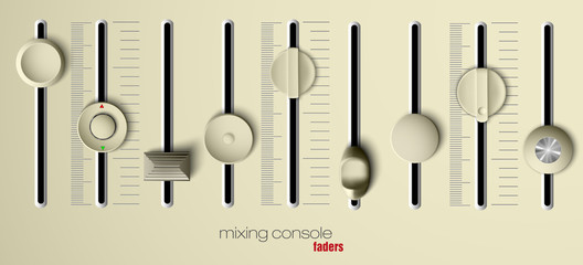 mixing console faders