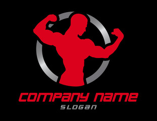 Bodybuilder design Black Background