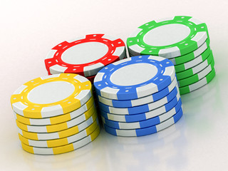 varicolored dice