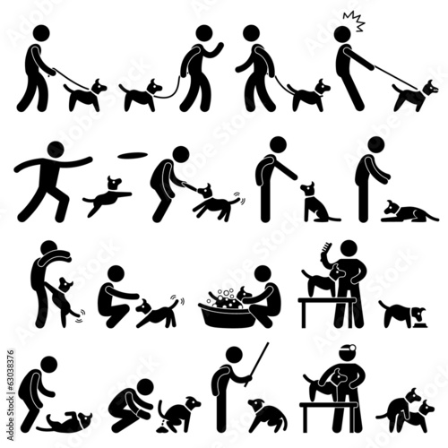 Man and Dog Training Pet