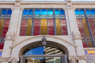Valencia Mercado Central market rear facade Spain