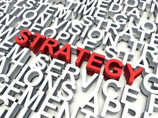 Word Strategy. Keyword concept.