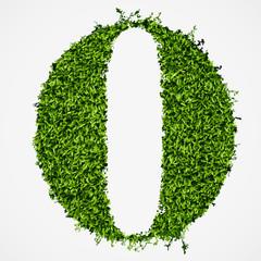 Number 0  grass texture
