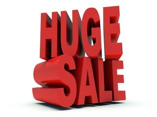 Advertising words Huge Sale. 3d render