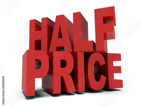 Advertising words Great deal in red. 3d render