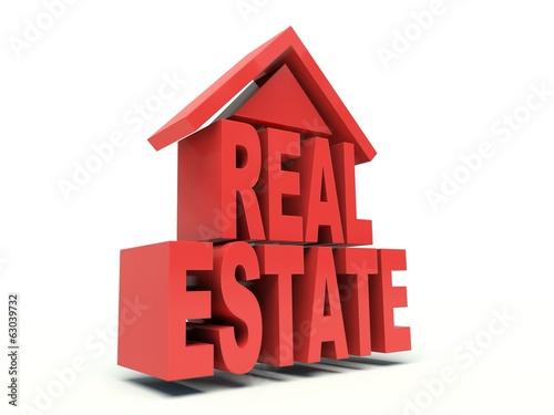 Real Estate symbol. 3d render