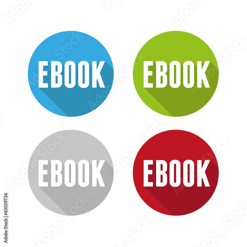 Ebook icon button set