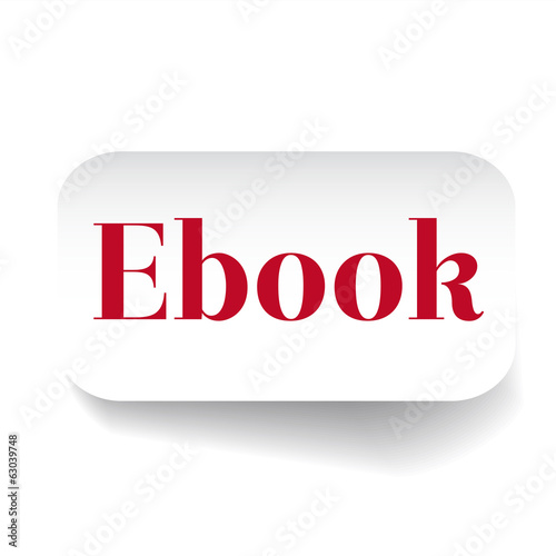 Ebook label vector