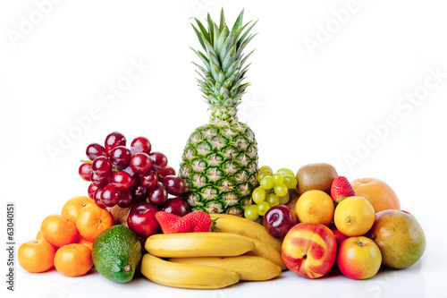 fruits isolated on a white background
