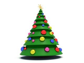 Christmas tree. 3d render